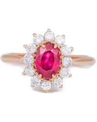 Katherine LeGrand Custom Goldsmith - Rose Gold Ruby Ring - Lyst