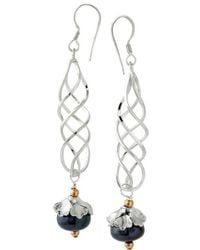 Elisa Ilana Jewelry - Sterling Silver & Pearl Spiral Earrings | - Lyst