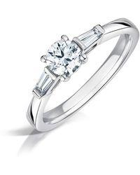 Clearwater Diamonds - Art Deco Style Diamond Trilogy Ring - Lyst