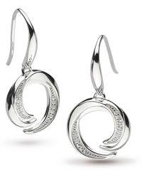 Kit Heath - Twine Helix Pave Drop Earrings - Lyst