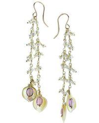Elisa Ilana Jewelry - Amethyst & Mother Of Pearl Earrings - Lyst