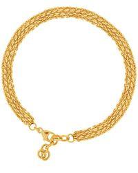Shinar Jewels 22kt Gold Plated Silver Eternal Love Roman Bracelet - Metallic