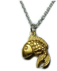 Russell Lownsbrough - Goldfish Gold Plated Pendant - Lyst