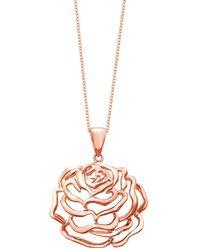 Fei Liu - Rose Medium Pendant Rose Gold Finish - Lyst