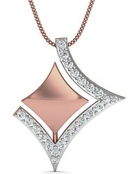 Diamoire Jewels - 18kt Rose Gold Diamond Pendant Inspired By Nature - Lyst