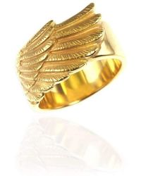 Jana Reinhardt Jewellery - Gold Plated Silver Wing Ring - Lyst