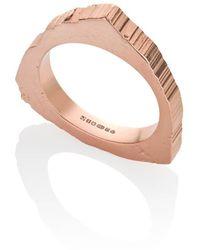 The Rock Hound 18kt Fairtrade Gold Rockstars Trigonal Edit Large Ring - Uk J - Us 4.75 - Eu 48.7 - Metallic