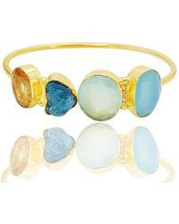 Bhagat Jewels 18kt Gold Plated Multi Stone Designer Bangle - Yellow