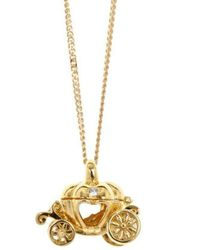 Lily Blanche - Gold Magical Charm Necklace - Adventure - Lyst
