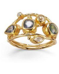 Bergsoe - Gold & Diamond Double Seafire Ring | - Lyst