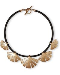Stefano Salvetti - Rose Gold Plated Ira Bronze Necklace - Lyst