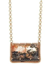 Susan Wheeler Design   Black Diamond Rose Gold Dendritic Quartz Necklace   Lyst