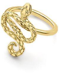 London Road Jewellery Kew Serpent Yellow Gold Ring - Uk J - Us 4.75 - Eu 48.7 - Metallic