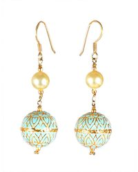 M's Gems by Mamta Valrani - Panache Hook Earrings With Pearl And Enamel Beads - Lyst