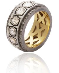 Kastur Jewels Classic Natural Diamond Ring Band - Metallic