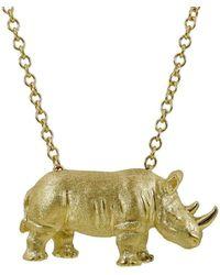 Alexander Jewell - Rhino Pendant - Lyst