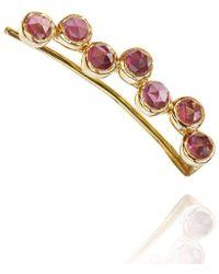 Perle de Lune - 18kt Gold Pink Garnet Ear Cuff Left - Lyst