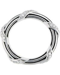 Peter Thomas Roth Fine Jewelry - Signature Diamond Band Ring Sterling Silver - Lyst