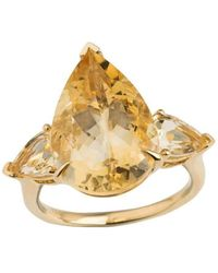 Emily Mortimer Jewellery - Aqua Citrine Pear Ring - Lyst