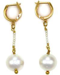 Donna Pizarro Designs - 18kt South Sea Pearl Drop Earrings - Lyst