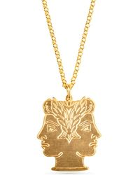 Soul2Seven 24kt Yellow Gold Plated Janus Necklace - Multicolour