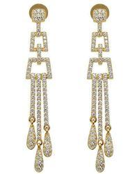 Lustre of London - Yellow Deco Chandelier Earrings - Lyst