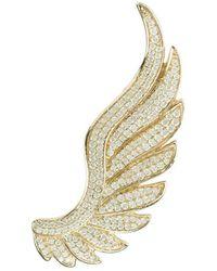 LÁTELITA London Yellow Gold Plated Gabriel Angel Wing Ear Climber - Right - Metallic
