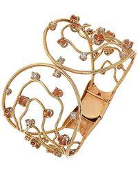 Botta Gioielli - Orange Sapphires And Diamonds Waves Bracelet - Lyst