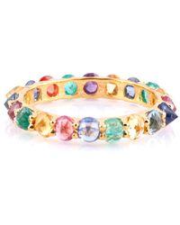 Trésor 18kt Yellow Gold Multicolored Sapphire Round Rose-cut Eternity Ring - Metallic