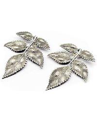 Pats Jewelry - Silver Florentine Earrings - Lyst