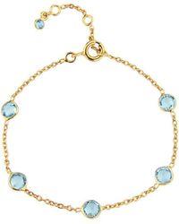 Auree Yellow Gold Plated Antibes Blue Topaz Bracelet