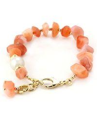 65aa4be7b Ziio Mistinguett Beaded Bracelet in Pink - Lyst