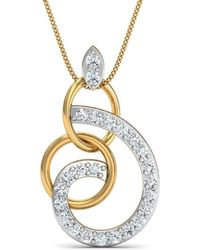 Diamoire Jewels - Diamonds And 18kt Yellow Gold Nature Inspired Luxe Pave Pendant - Lyst
