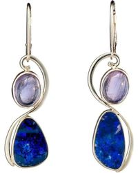 Lainey Papageorge Designs - Blue Butterfly Dancing Woman Earrings - Lyst