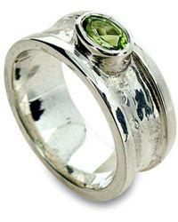 Will Bishop Small Sterling Silver & Garnet Drum Ring - UK G - US 3 3/8 - EU 45 1/4 3qa43