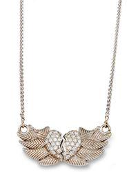 Katherine LeGrand Custom Goldsmith - White Gold & Diamond Winged Heart Necklace   Katherine Legrand - Lyst