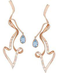Alexandra Itouna Flamingos Earrings - Metallic
