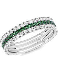 Verifine London 18kt White Green Goddess R - Multicolour