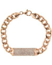 Cosanuova - Diamond Cross Bracelet 18k Rose Gold - Lyst