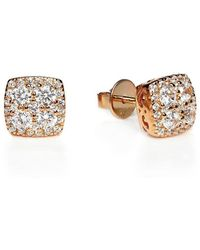 Lustre of London - Rose Square Cluster Studs - Lyst