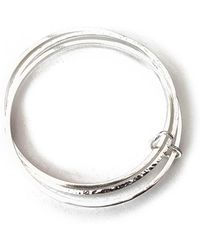 Lexi Cannon Jewellery - Stunning Sterling Silver Interlinked Bangle Trio With Silver Heart - Lyst