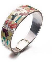 SOLUNA Sterling Silver Inca Calendar Bracelet - Metallic