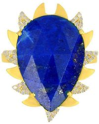 Meghna Jewels - Claw Ring With Lapis Lazuli - Lyst