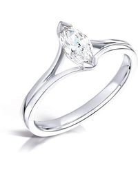 Clearwater Diamonds - Diamond Split Shoulder Engagement Ring - Lyst