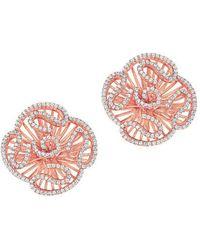 Fei Liu - Cascade Stud Earrings In 18kt Rose Gold Plate - Lyst
