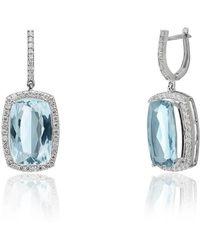 Kaizarin - Elite - Aquamarine & Diamond Earrings - Lyst