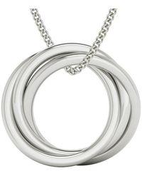 StyleRocks Russian Rings Necklace - Sterling Silver - Metallic