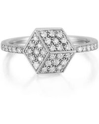 Paolo Costagli New York - Rose Gold And Diamond Brilliant Ring, Petite - Lyst