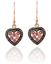 LÁTELITA London - Diamond Heart Pink Tourmaline Earring - Lyst