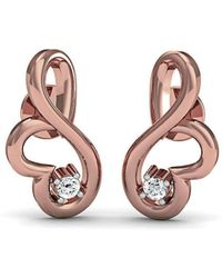 Diamoire Jewels Ethereal Diamond Stud Earrings in 18kt Rose Gold 3G40WcDgD